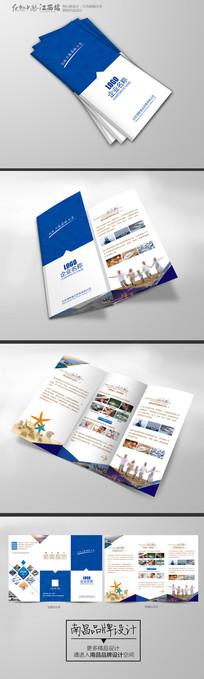 创意蓝色科技企业三折页设计