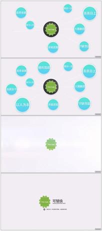 简单的圆形连线公司标志简介 aep