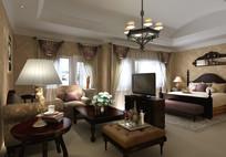 酒店房间3D模型