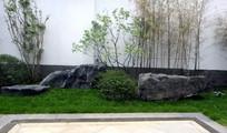 庭院景石小品