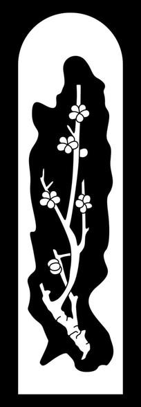 镂空梅花雕刻图案