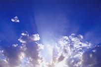 日出光芒万丈的天空贴图素材