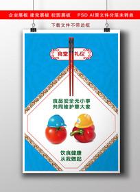 食堂文化食品安全展板