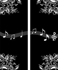 音乐之花雕刻图案
