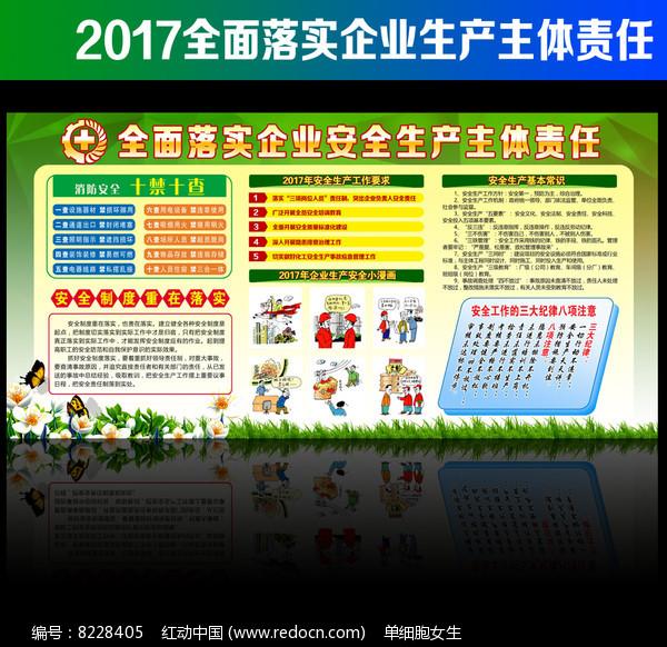 2017年安全生产月主题展板图片