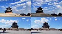 北京首都天坛延时拍摄视频