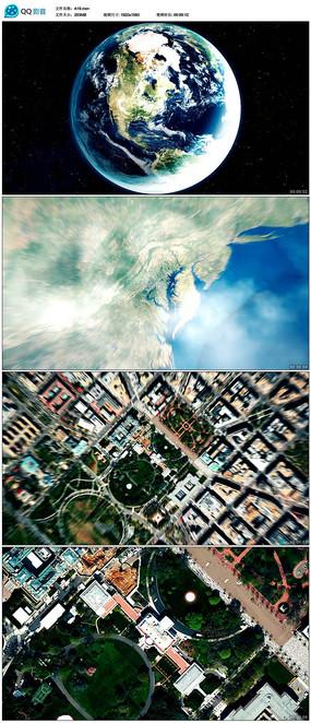 地球从太空穿梭到地面视频素材  mov