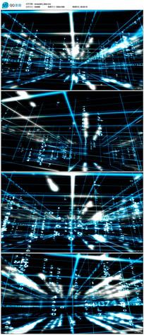 蓝色科技背景视频素材 mov