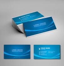 蓝色商业名片设计