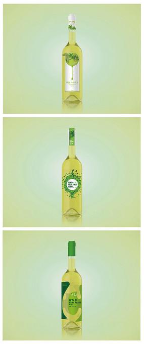 葡萄酒包装瓶贴 AI