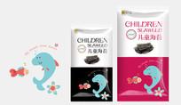 儿童海苔休闲食品包装设计