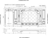 欧式罗马柱加玉石电视背景欧式雕花护墙板欧式电视桌设计图纸