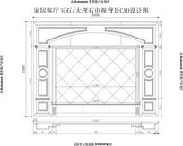 欧式线条加欧式罗马柱新式客厅电视背景墙CAD设计图纸