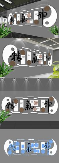 中国风精气神通用企业文化形象墙