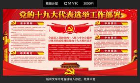 党的十九大代表选举工作部署展板