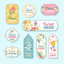 花卉贴纸包装图案