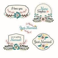 婚礼用品包装盒标签模板
