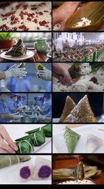 4分钟端午节包粽子视频素材