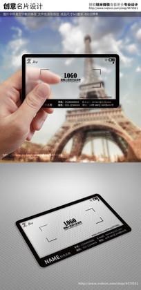 创意相机摄影摄像透明名片 PSD
