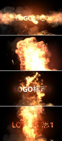 大气火焰logo标志展示片头ae模板