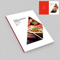 简约披萨店外卖手册封面设计
