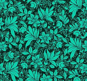 绿色花纹印花图案底纹
