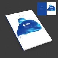 水墨中国风抽象现代作品集封面设计