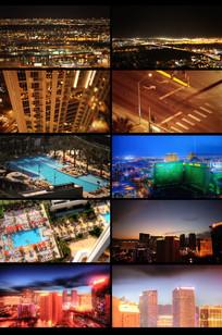 唯美延时城市建筑摄影视频