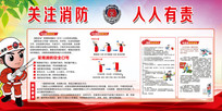 消防安全文化宣传栏展板