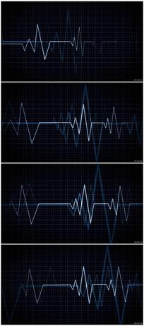 心脏速率跳动显示器线条摆动 mov