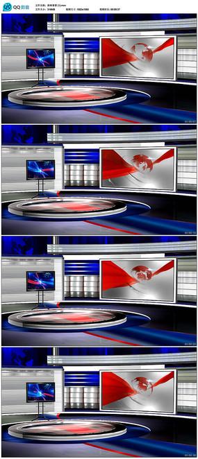 虚拟演播室新闻背景视频素材