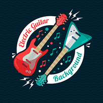 音乐海报吉他图案