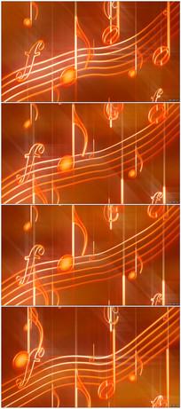 音乐元素音符不规则飘浮