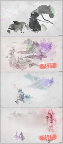 彩色水墨叠加晕染图文内容展示视频