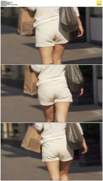 穿着超短裤的美女实拍视频素材
