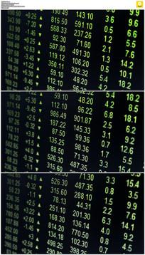 股市数据移动展示背景视频素材