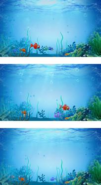 海底世界各种鱼类儿童卡通LED高清视频