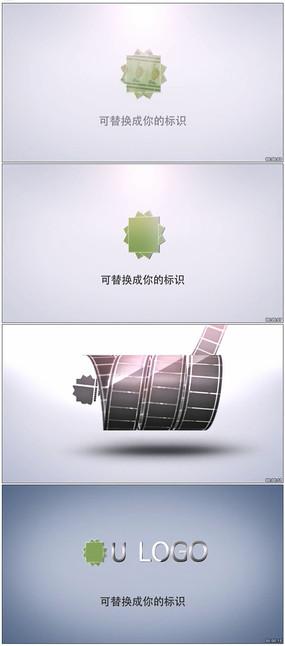 两款电影胶片缠绕揭示出标志