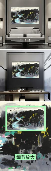 山水水墨画装饰画