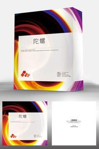 时尚炫彩创意包装盒设计 PSD