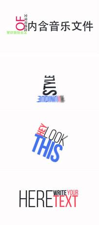 标题文字排版动画ae模板