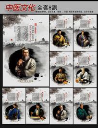 古典水墨画中医文化展板挂图