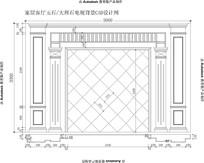 简单普通客厅玉石电视背景欧式电视背景欧式罗马柱CAD设计图