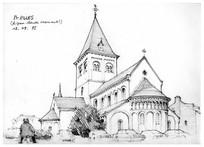 尖顶建筑手绘图 JPG
