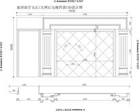 客厅简单电视背景加简单过道室内精装CAD立面图