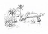 茅草现代东南亚酒店