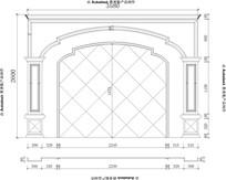 欧式电视背景沙发背景大理石玉石电视背景CAD设计图