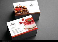 时尚蛋糕店名片设计 PSD