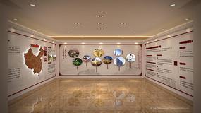 泰禾集团品牌墙中间工法展示3dmax模型下载