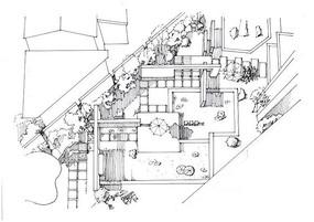 庭院景观平面手绘图